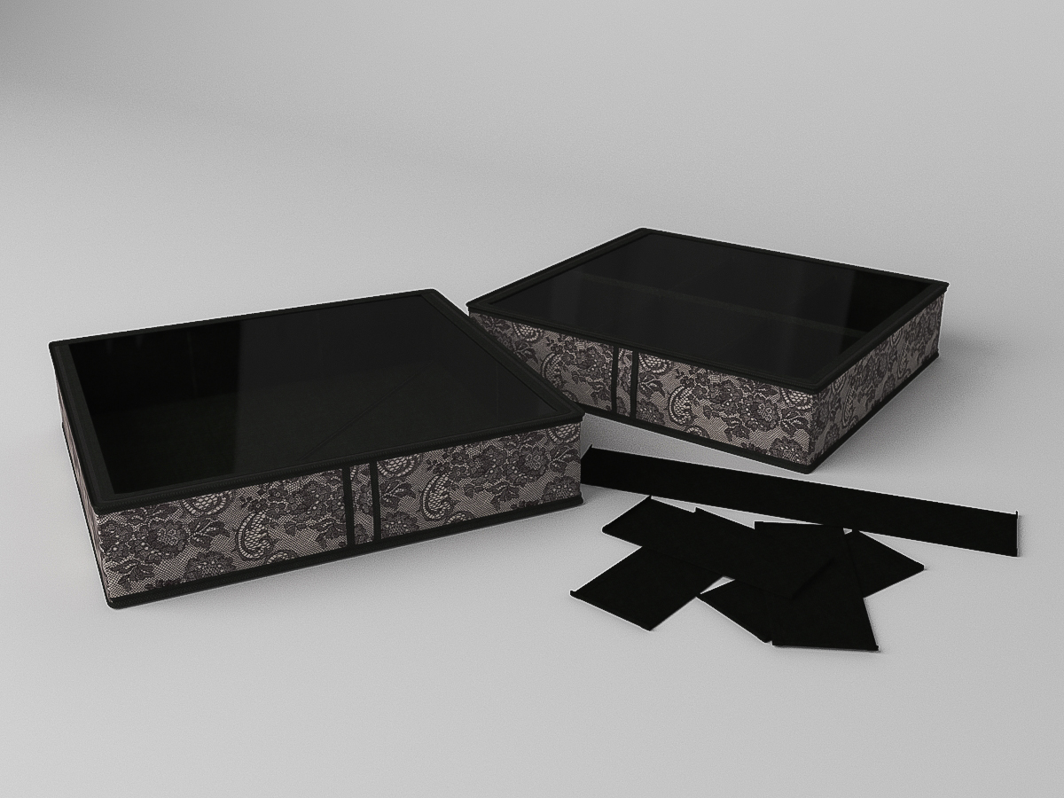{} CoFreT Кофр для обуви Ажур (12х52х56 см)