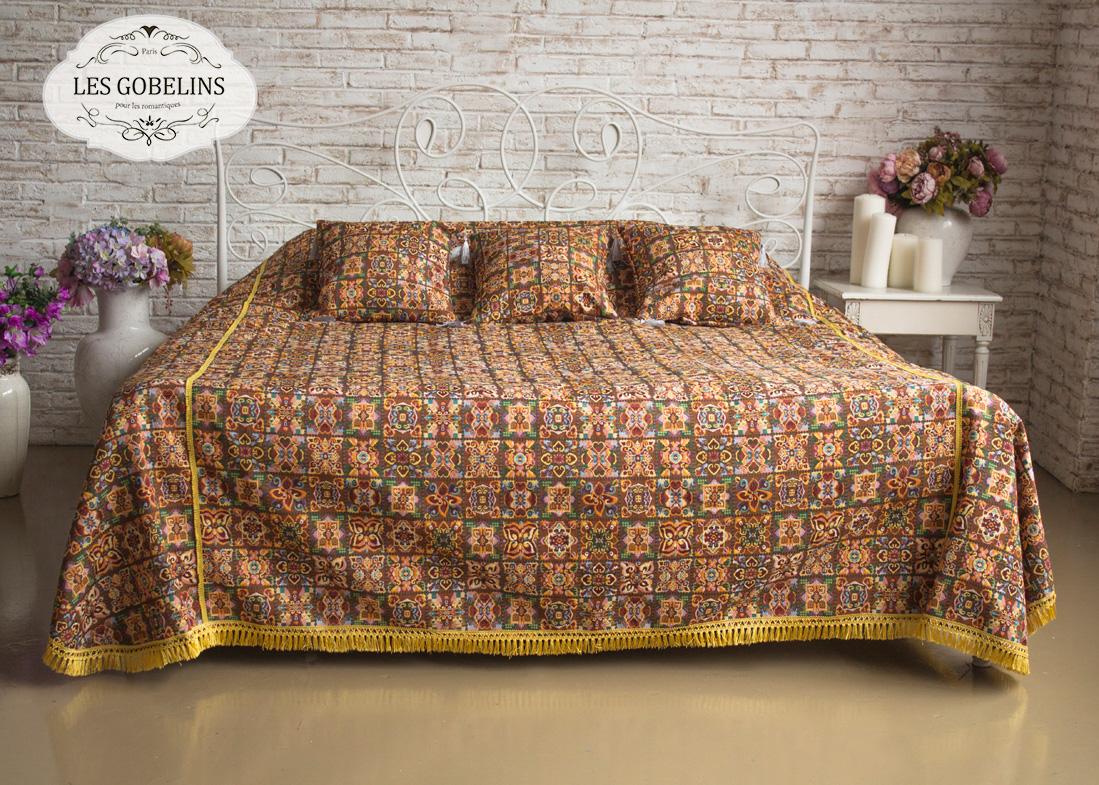 где купить Покрывало Les Gobelins Покрывало на кровать Mosaique De Fleurs (160х220 см) по лучшей цене