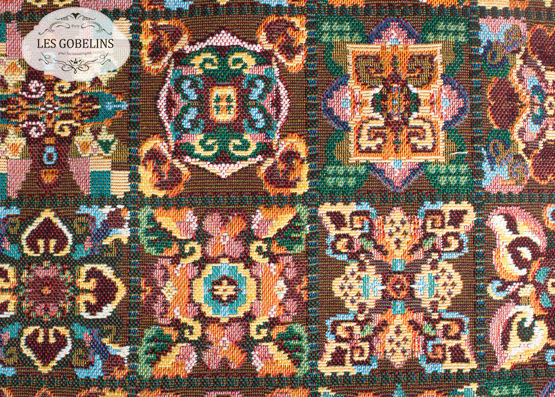 где купить Покрывало Les Gobelins Накидка на диван Mosaique De Fleurs (150х210 см) по лучшей цене