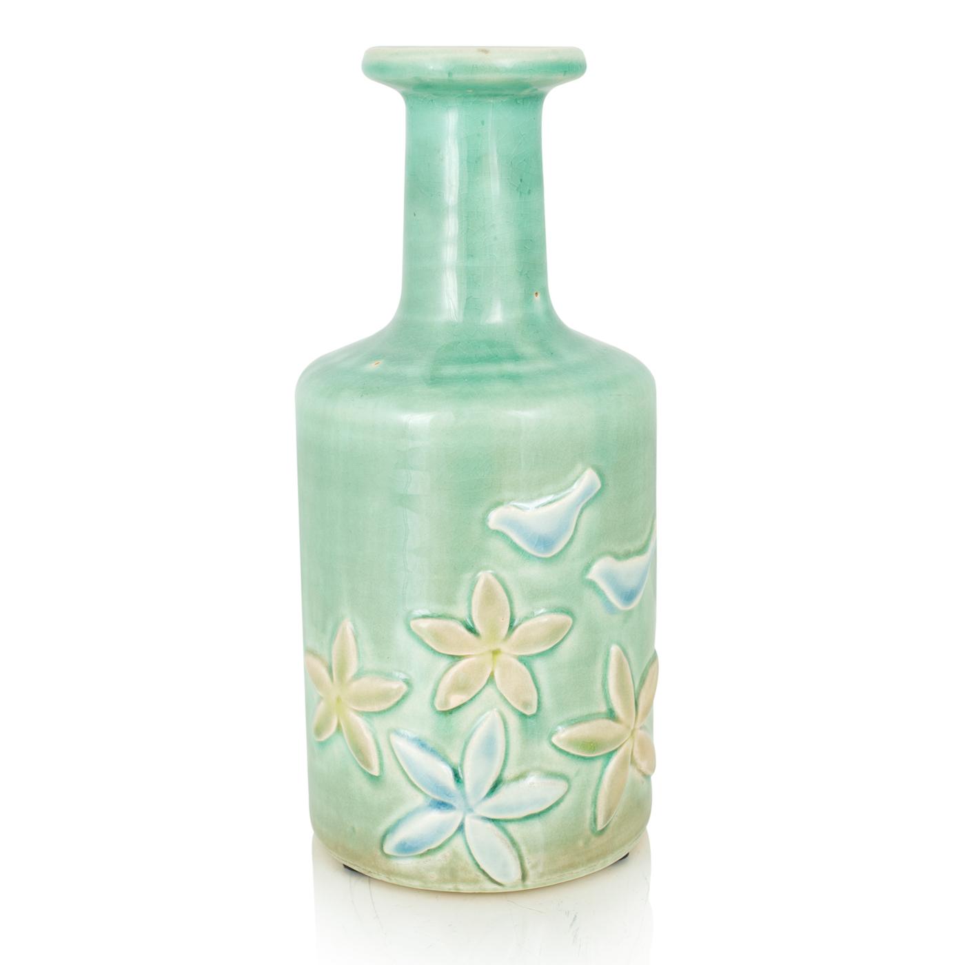 {} Home Philosophy Ваза Luzon Цвет: Светло-Зеленый (11х11х26 см) home philosophy ваза mariana цвет молочный набор