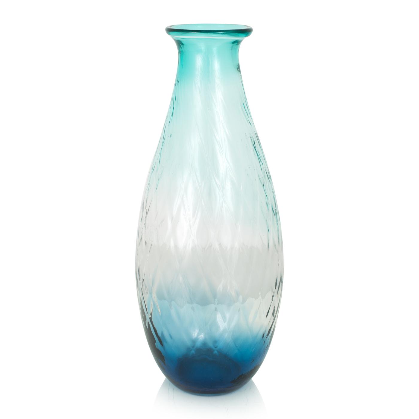 {} Home Philosophy Ваза Alvarez Цвет: Сине-Бирюзовый (16х16х43 см) home philosophy ваза mariana цвет молочный набор