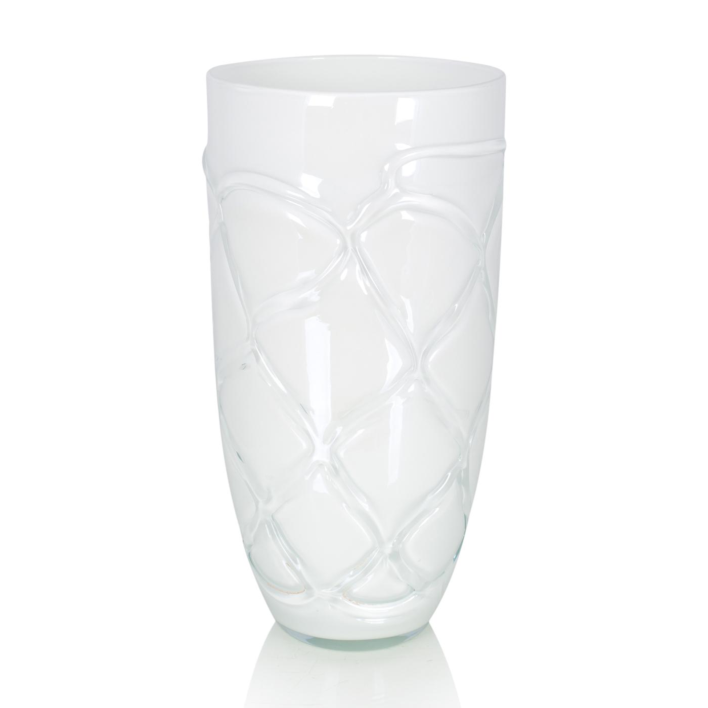 {} Home Philosophy Ваза Florina Цвет: Белый (13х13х26 см) ваза кружева цветов 26 см