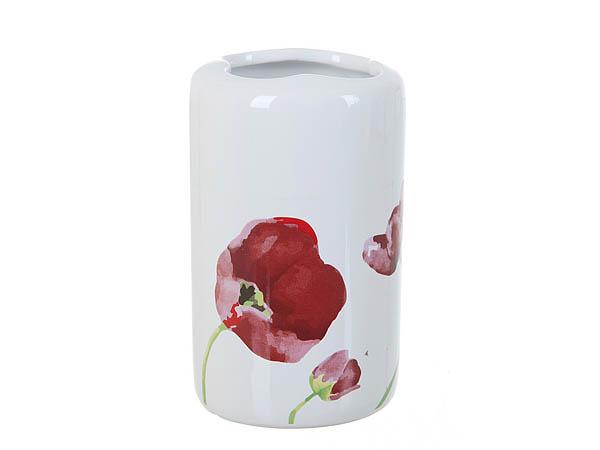 {} ENS GROUP Подставка для зубных щеток Красные Тюльпаны (6х6х11 см) ens group подставка для зубных щеток садовая роза 6х6х11 см