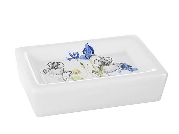 {} ENS GROUP Мыльница Ирисы (3х9х14 см) мыльница maison керамика голубой 14 3 х 9 7 х 3 см