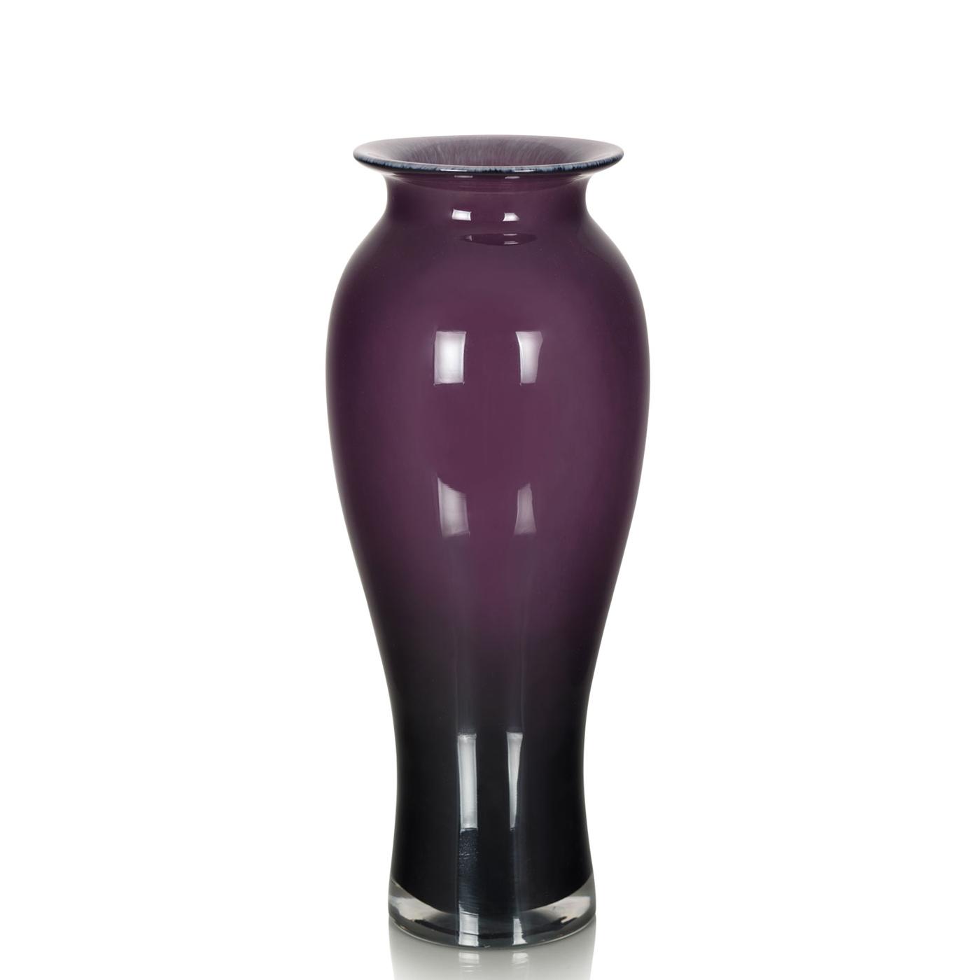 {} Home Philosophy Ваза Dorchester Цвет: Фиолетовый (15х39 см)