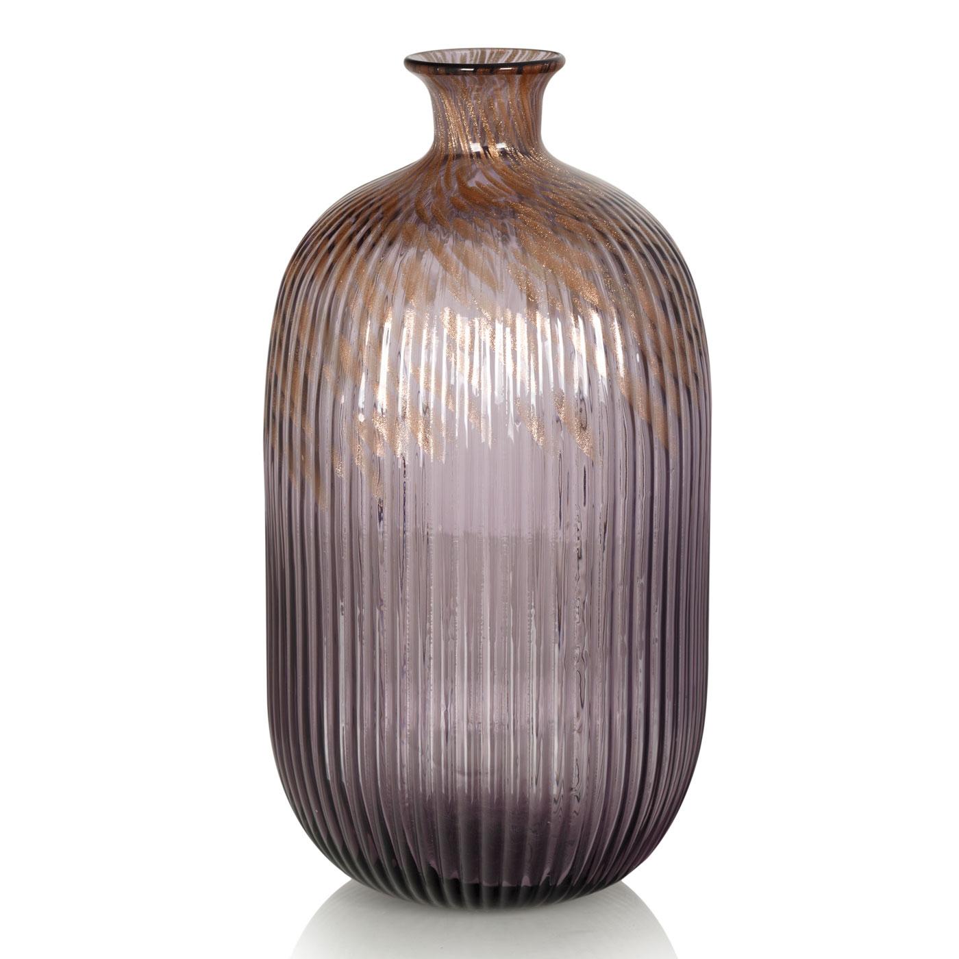 {} Home Philosophy Ваза Anemone Цвет: Лилово-Золотой (17х34 см) roomble зеркало anemone