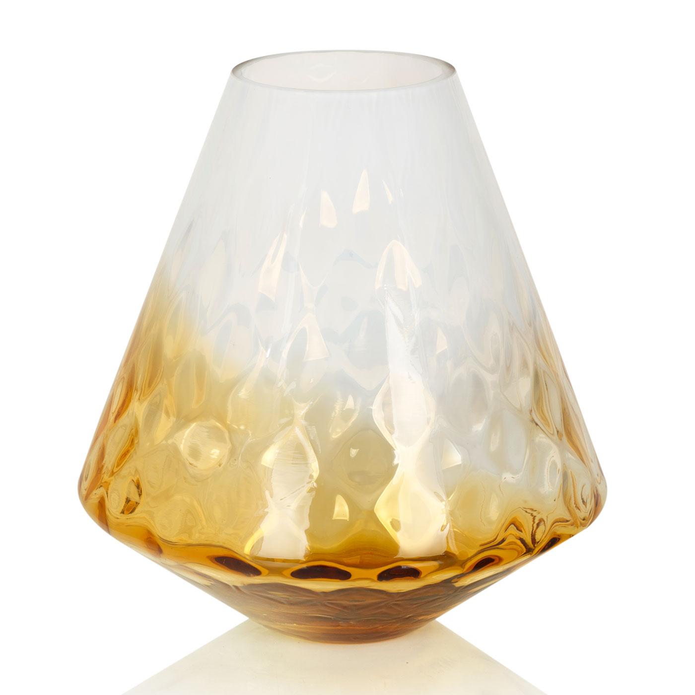 {} Home Philosophy Ваза Cassandra Цвет: Янтарно-Белый (25х27 см) ваза кручёная цвет белый 51 см 1025307
