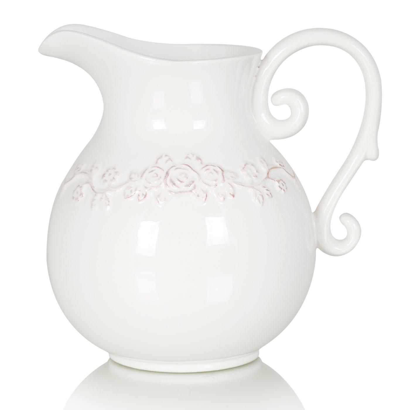 {} Home Philosophy Ваза-кувшин Bailey Цвет: Белый (13х18х18 см) home philosophy ваза mariana цвет молочный набор