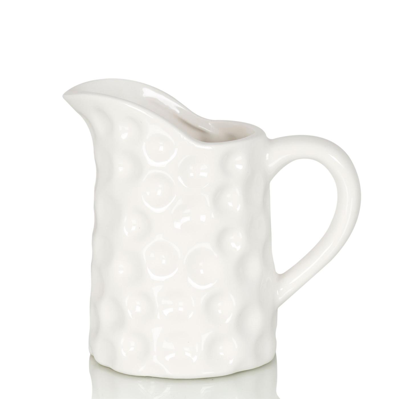 {} Home Philosophy Ваза-кувшин Bailey Цвет: Белый (7х13х14 см) ваза кручёная цвет белый 51 см 1025307