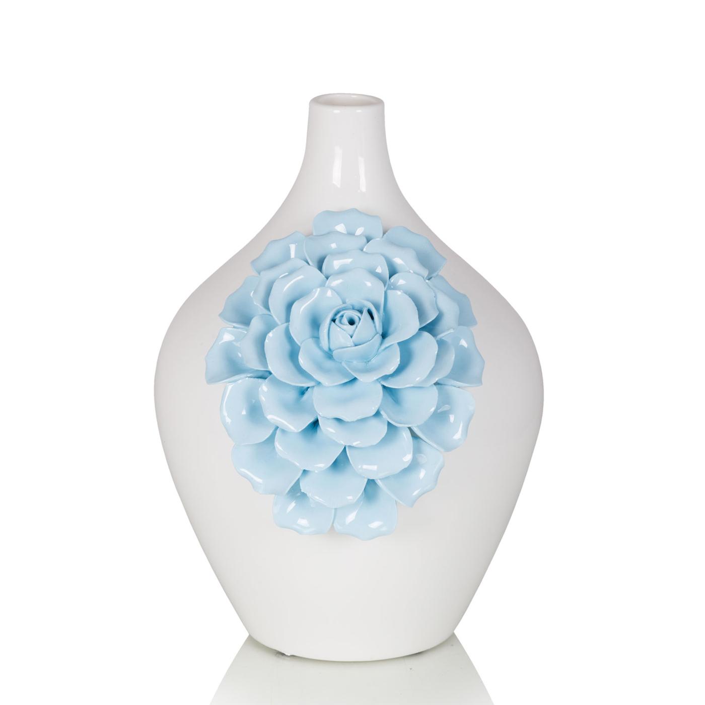 {} Home Philosophy Ваза Stefania Цвет: Белый-Голубой (14х22 см) ваза кручёная цвет белый 51 см 1025307