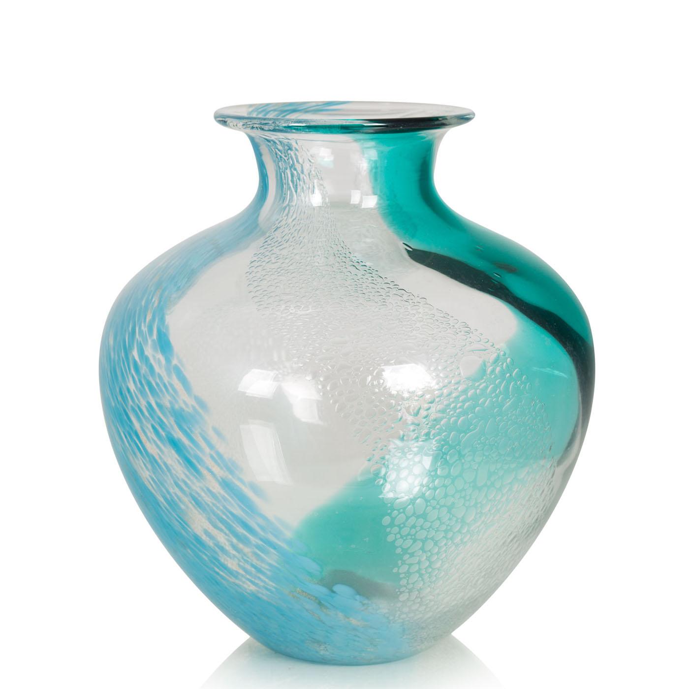 {} Home Philosophy Ваза Norine Цвет: Бирюзовый-Голубой (19х24 см) home philosophy ваза mariana цвет молочный набор