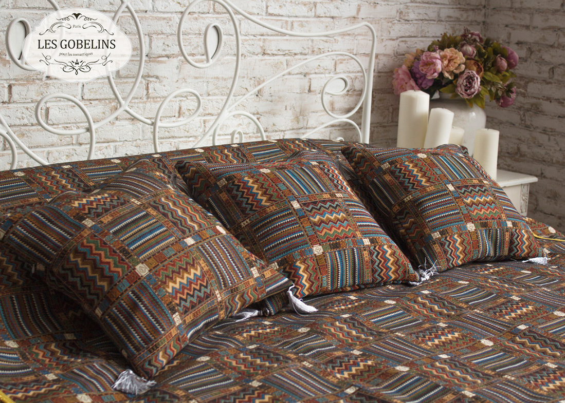 Покрывало Les Gobelins Покрывало на кровать Mexique (230х230 см) желтое покрывало на кровать