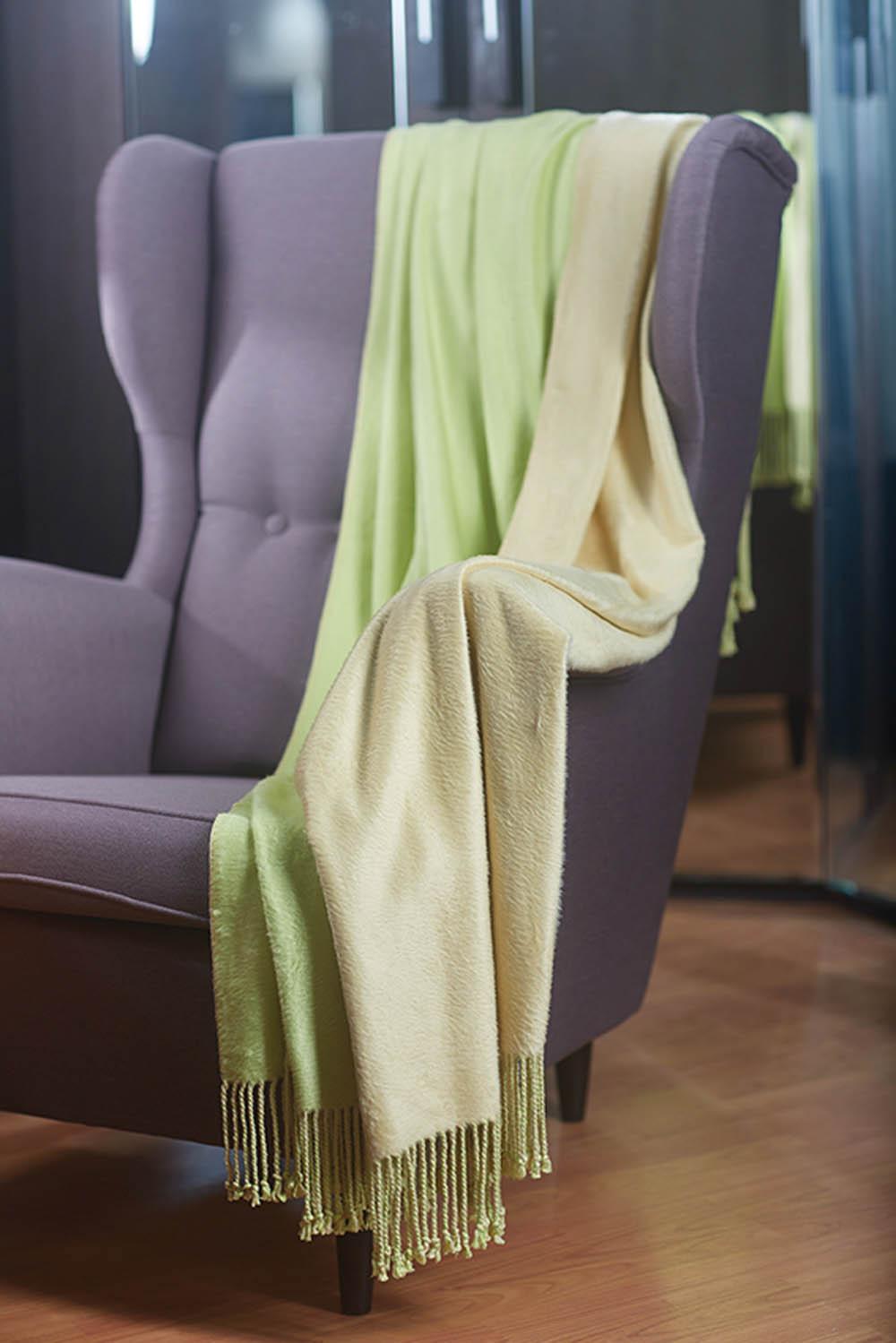 где купить Плед Primavelle Плед Bamboo Цвет: Оливково-Песочный (130x190 см) по лучшей цене