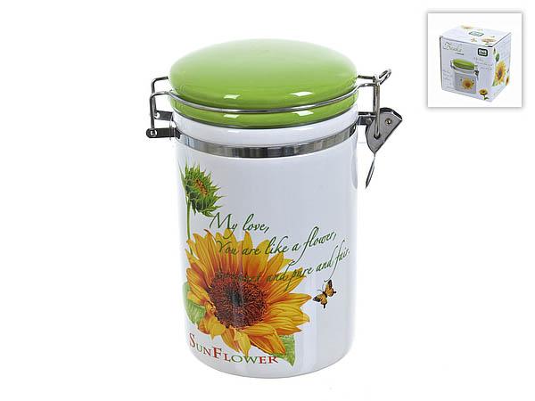 {} ENS GROUP Банка для сыпучих Подсолнух (10х17 см) банка для сыпучих продуктов ens group чайная роза 800 мл