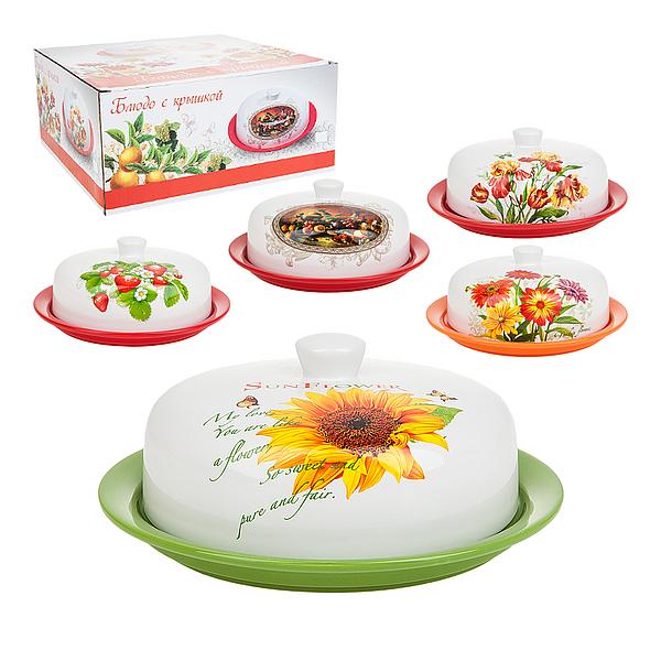 {} ENS GROUP Блюдо для блинов Подсолнух (24 см) блюдо для блинов 24 5х28х3 см best home porcelain блюдо для блинов 24 5х28х3 см page 9