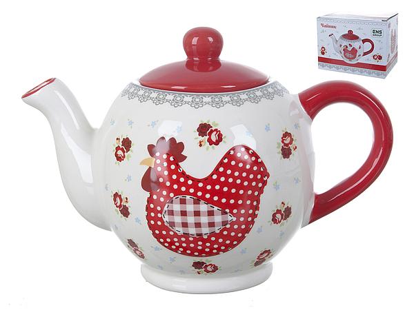 {} ENS GROUP Заварочный чайник Красный Петушок (14х16х23 см) ens group салатник красный петушок 5х16 см