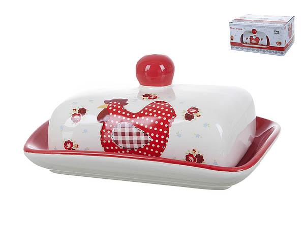 {} ENS GROUP Масленка Красный Петушок (8х13х17 см) ens group салатник красный петушок 5х16 см