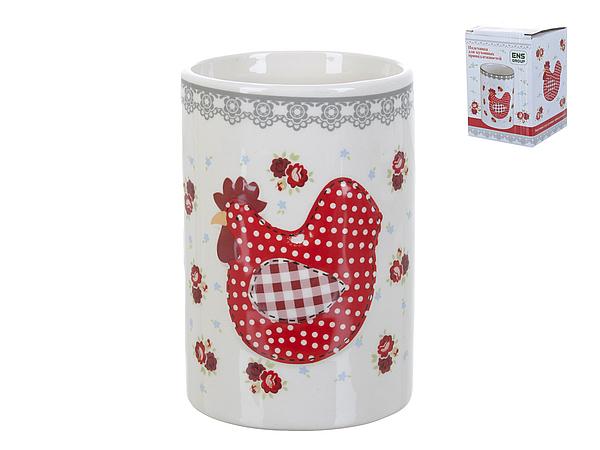 {} ENS GROUP Подставка для кухонных принадлежностей Красный Петушок (9х13 см) емкости неполимерные ens group банка для сыпучих продуктов ens group мармелад 675 мл