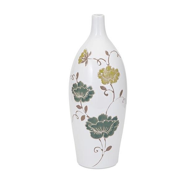 {} Home Philosophy Ваза Adele Цвет: Белый-Зеленый (17х40 см) ваза кручёная цвет белый 51 см 1025307