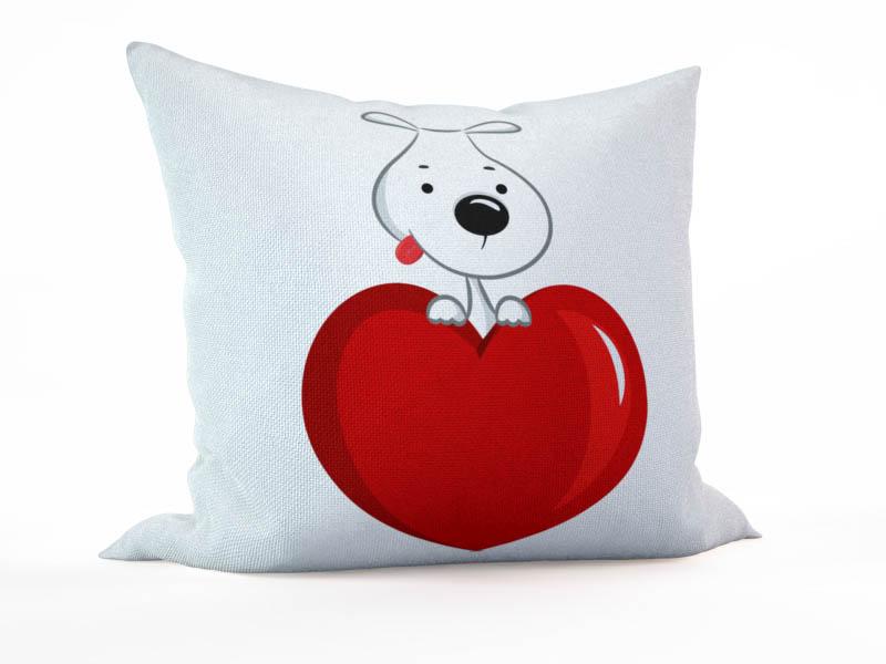Декоративные подушки StickButik Декоративная подушка Любвеобильный Пес (45х45)