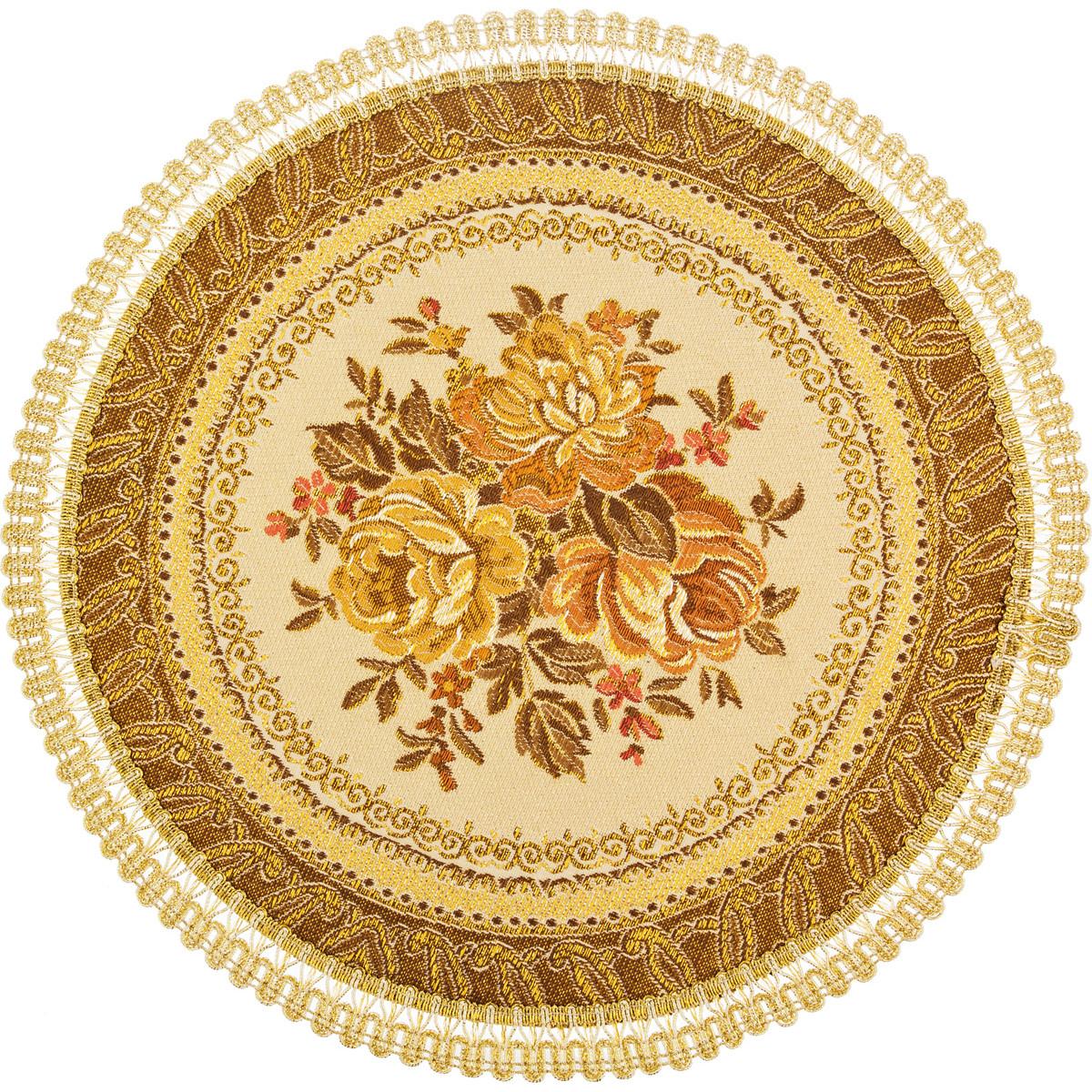 Скатерти и салфетки Lefard Салфетки Arecco  (круглая 32 см) скатерти и салфетки lefard салфетки granna 32х96 см