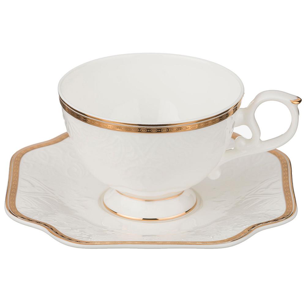 {} Lefard Чайная пара Shevon (230 мл) чайная пара с крышкой кобальтовая сетка форма подарочная 2 ифз