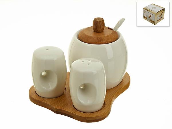 {} Best Home Porcelain Набор для специй Naturel (12х14х17 см) набор для специй 2 предмета best home porcelain набор для специй 2 предмета