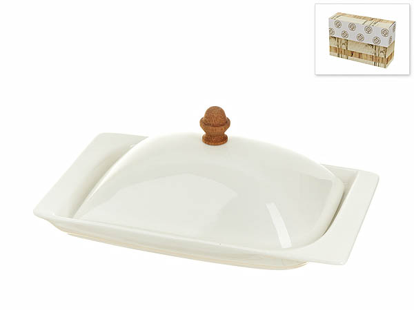 {} Best Home Porcelain Масленка Naturel (8х12х19 см) торговый дом ника 2154 mr 12 масленка 20х15х11 см