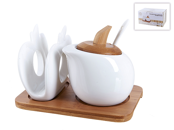{} Best Home Porcelain Сахарница Naturel (11х11х17 см)
