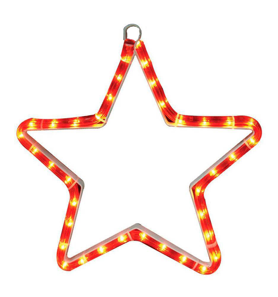{}  Световая фигура Звезда Цвет: Красный (32х32 см) световая фигура снеговички 37х45 см