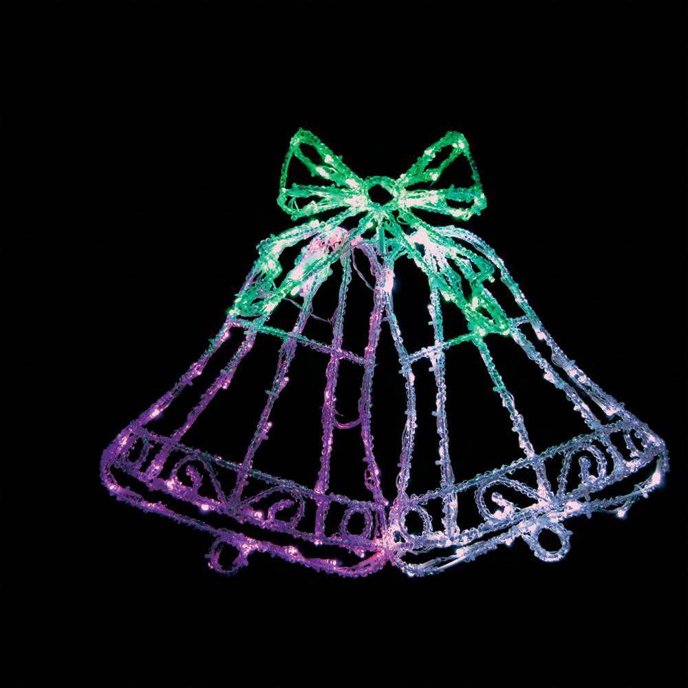 {}  Световая фигура Ледяной Перезвон (46х59 см) световая фигура снеговички 37х45 см