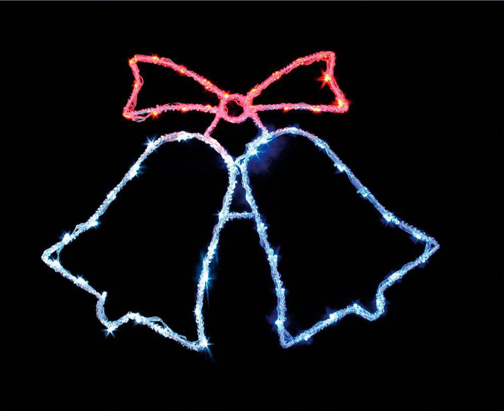 {}  Световая фигура Колокольчики (45х59 см) световая фигура снеговички 37х45 см