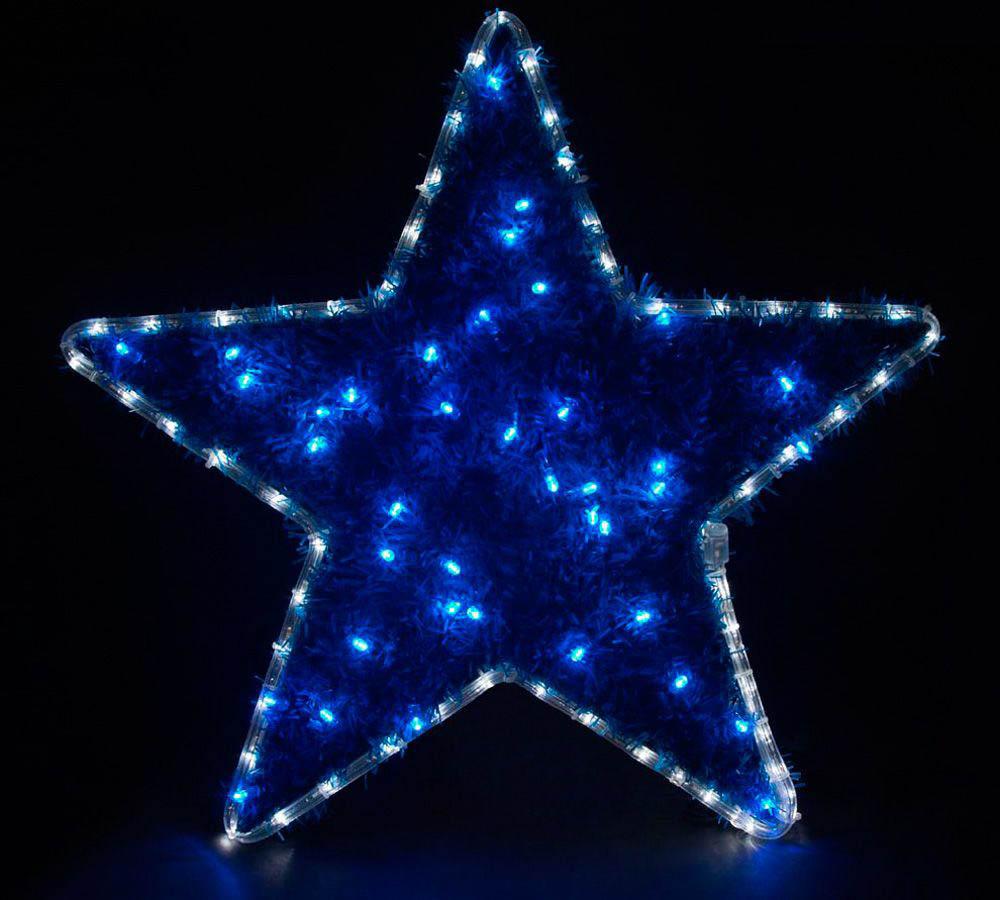 {}  Световая фигура Звезда С Мишурой (60х60 см) световая фигура снеговички 37х45 см