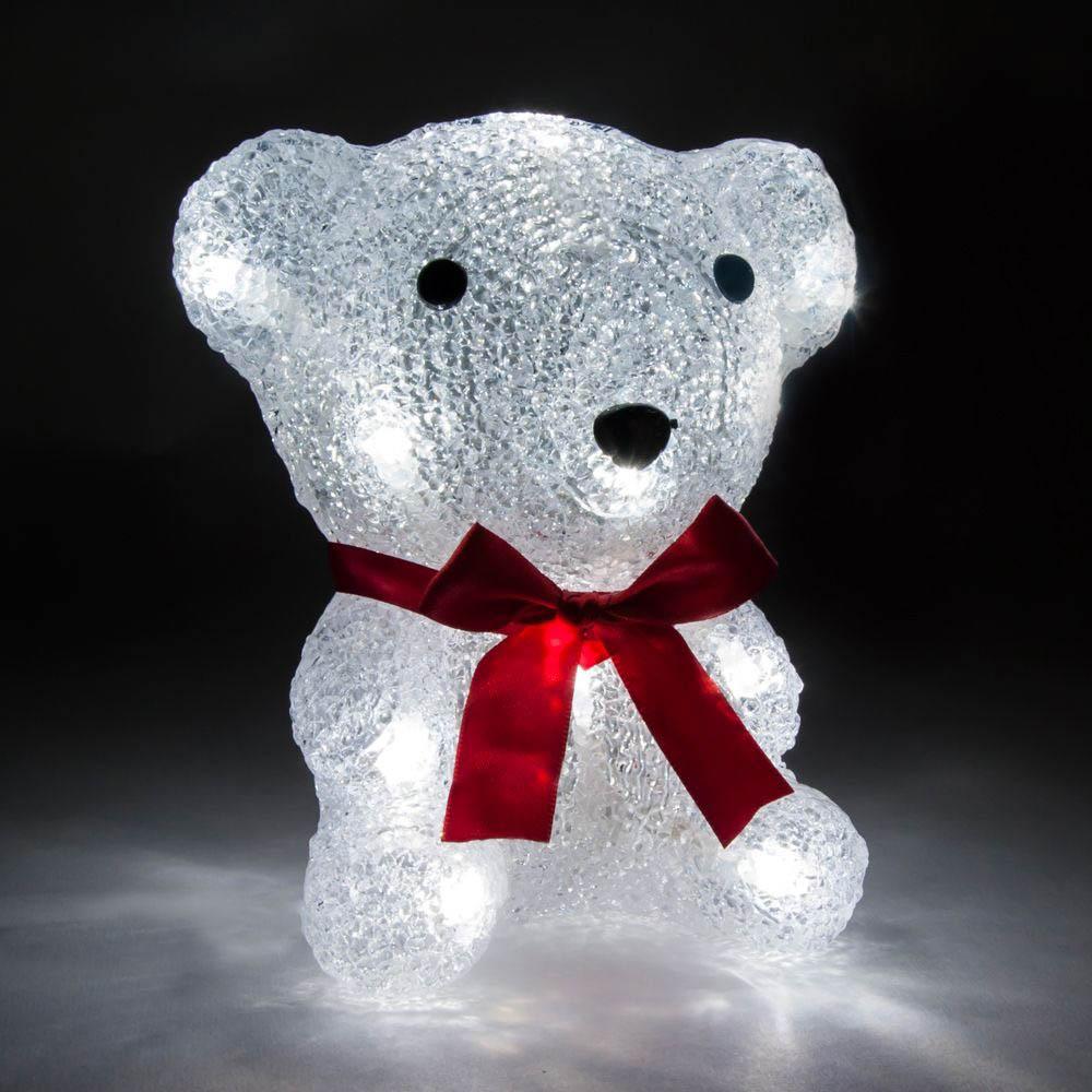{}  Световая фигура Мишка (11х16 см) световая фигура снеговички 37х45 см