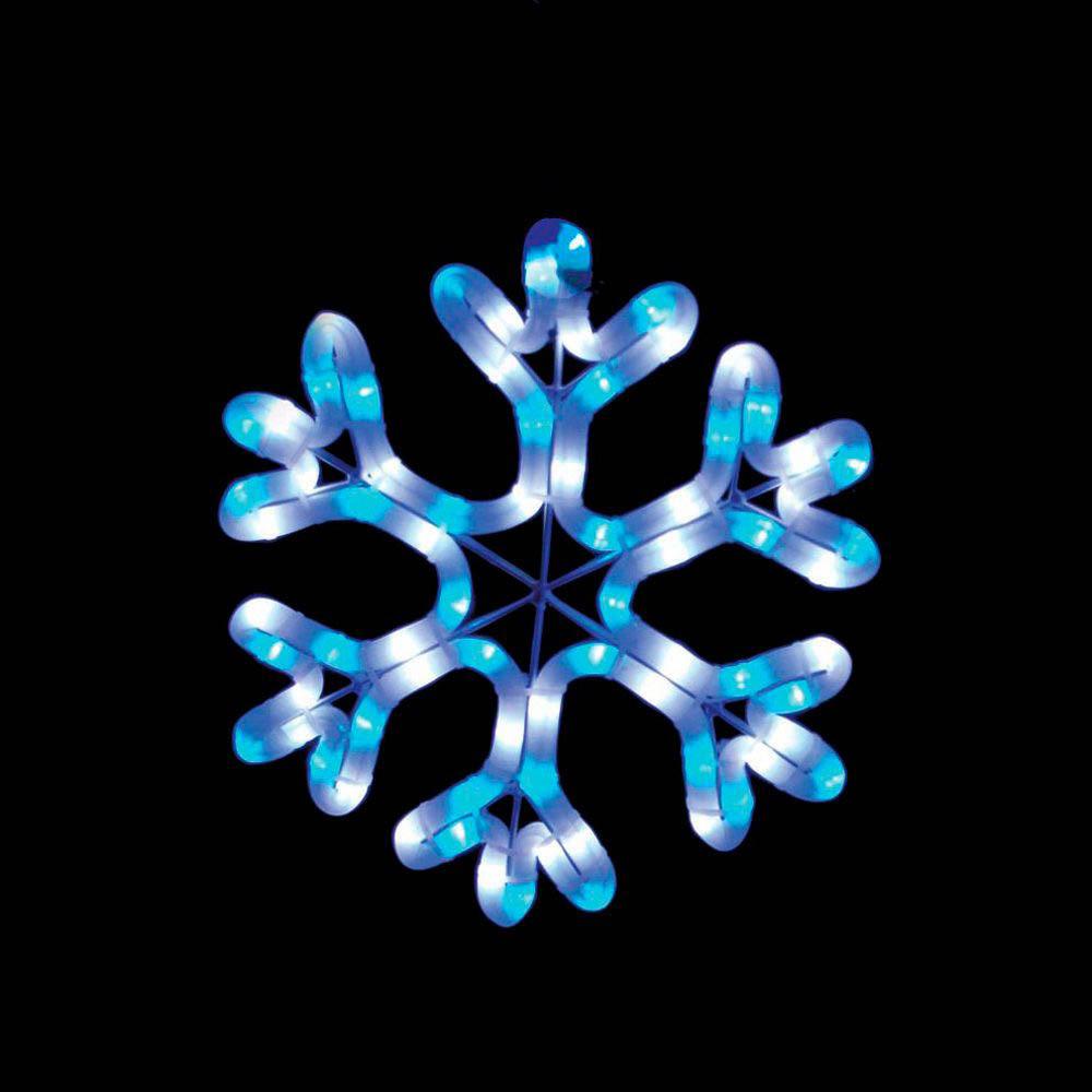 {}  Световая фигура Снежинка Молочная Лазурь (26х26 см) световая фигура снеговички 37х45 см