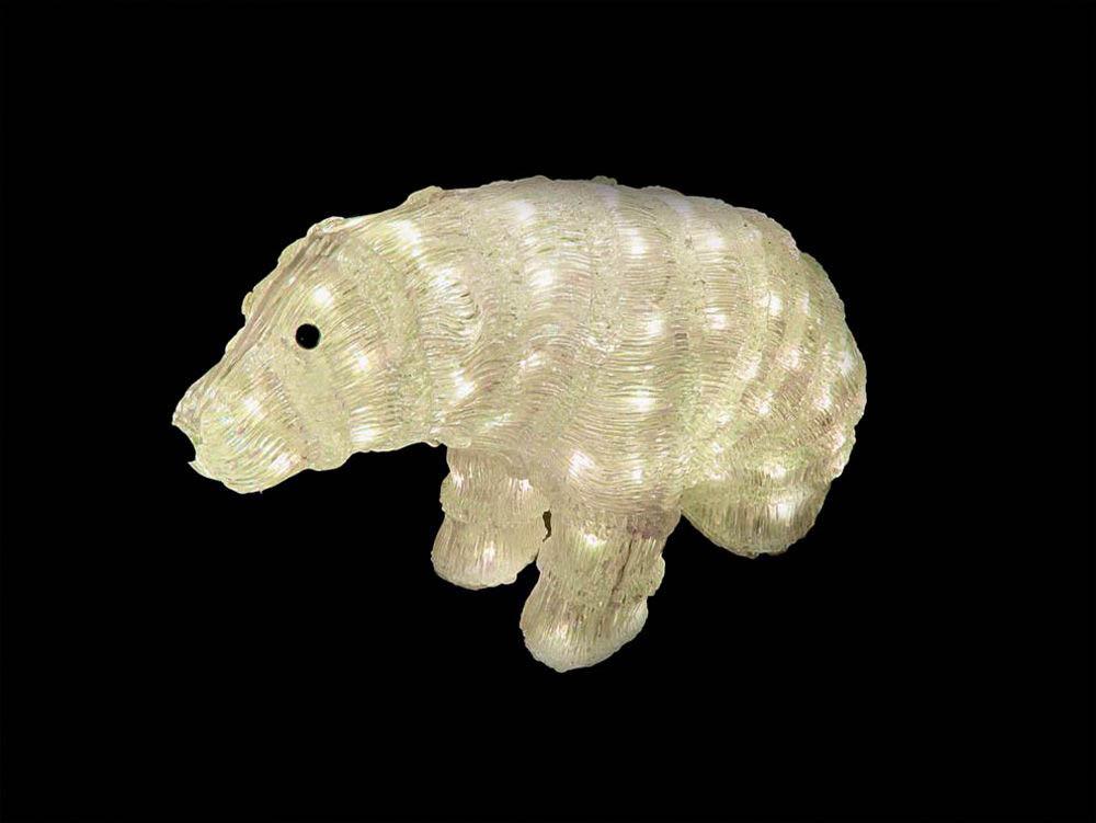 {}  Световая фигура Медведь Полярный (30х50 см) световая фигура снеговички 37х45 см