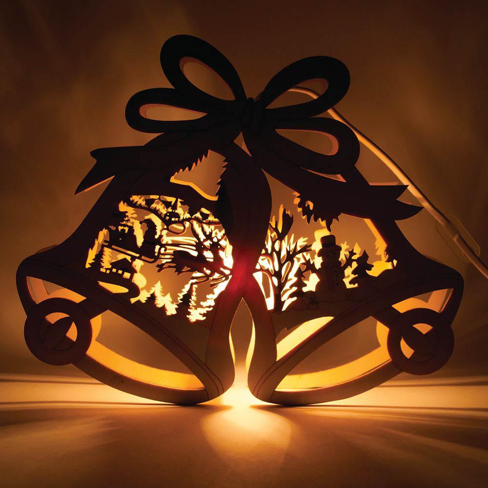 {}  Световая фигура Колокольчики (24х29 см) световая фигура снеговички 37х45 см