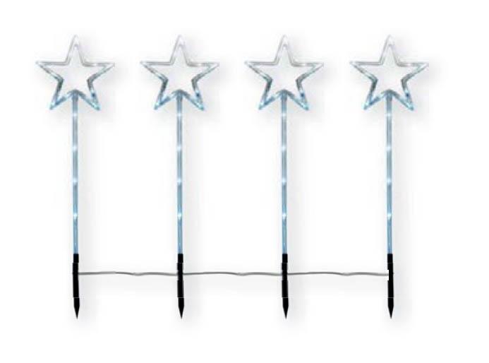 {}  Световая фигура Звезда (65х100 см - 4 шт) световая фигура снеговички 37х45 см