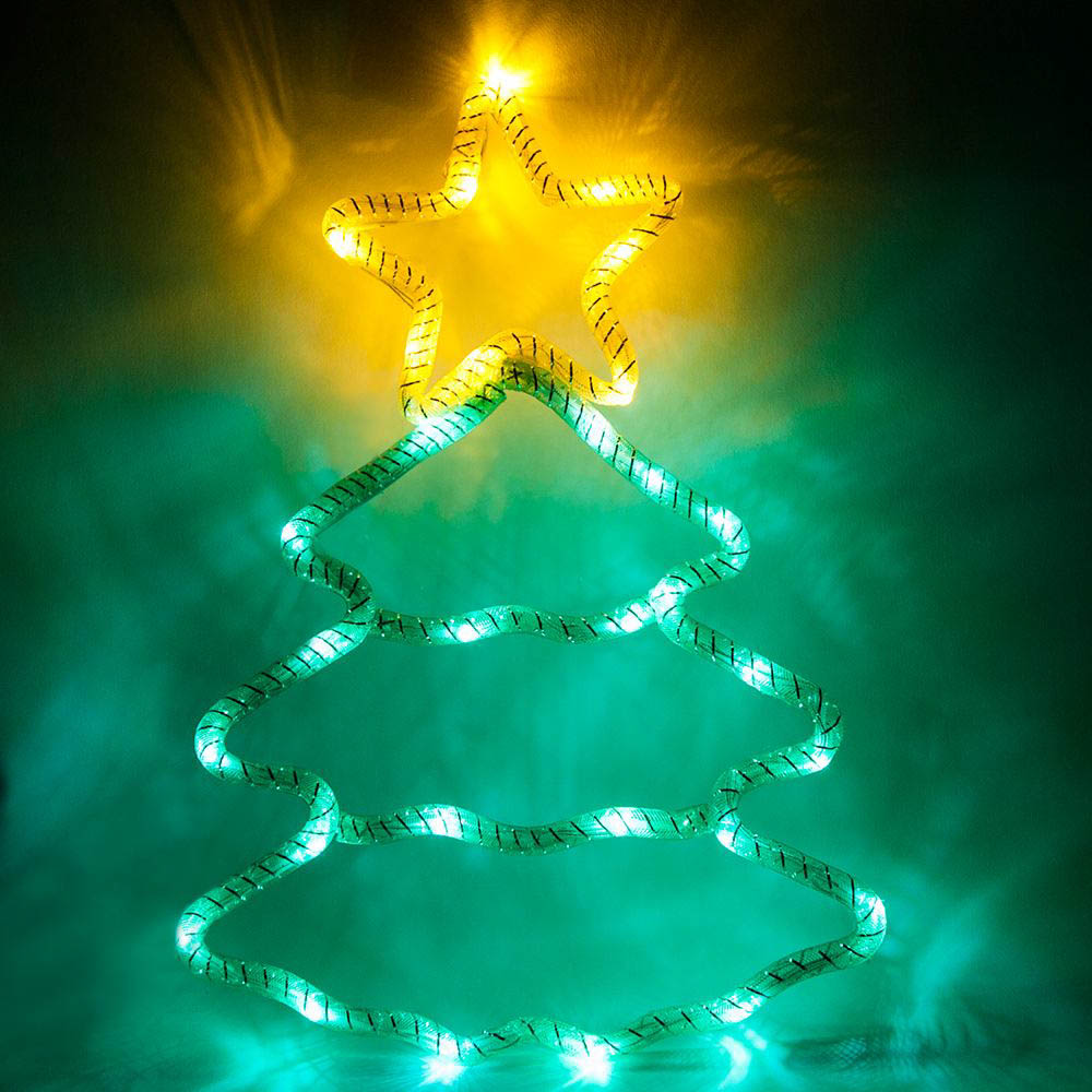 {}  Световая фигура Елечка Со Звездой (28х40 см) световая фигура снеговички 37х45 см