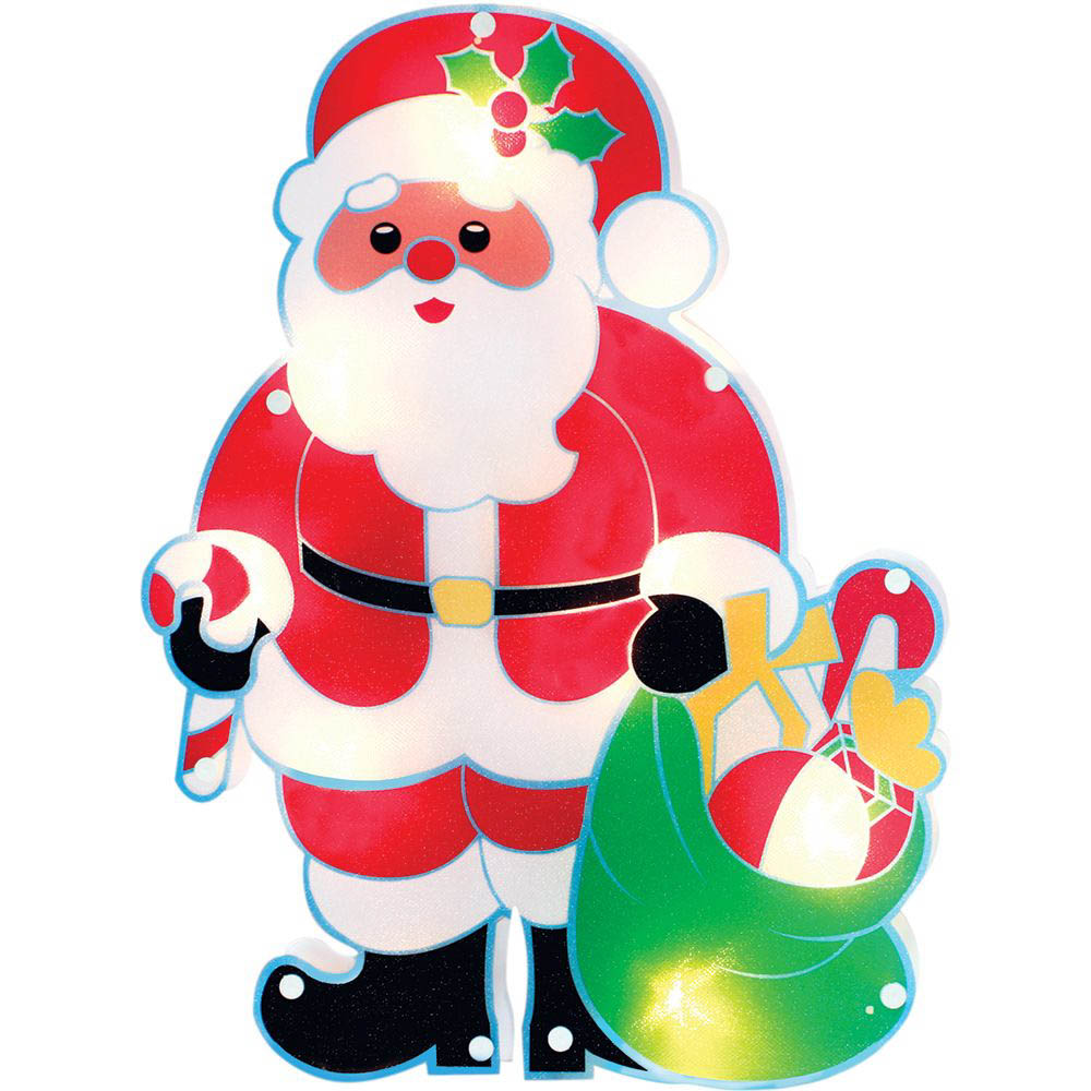 {}  Световая фигура Санта Клаус С Подарками (25х35 см) световая фигура снеговички 37х45 см
