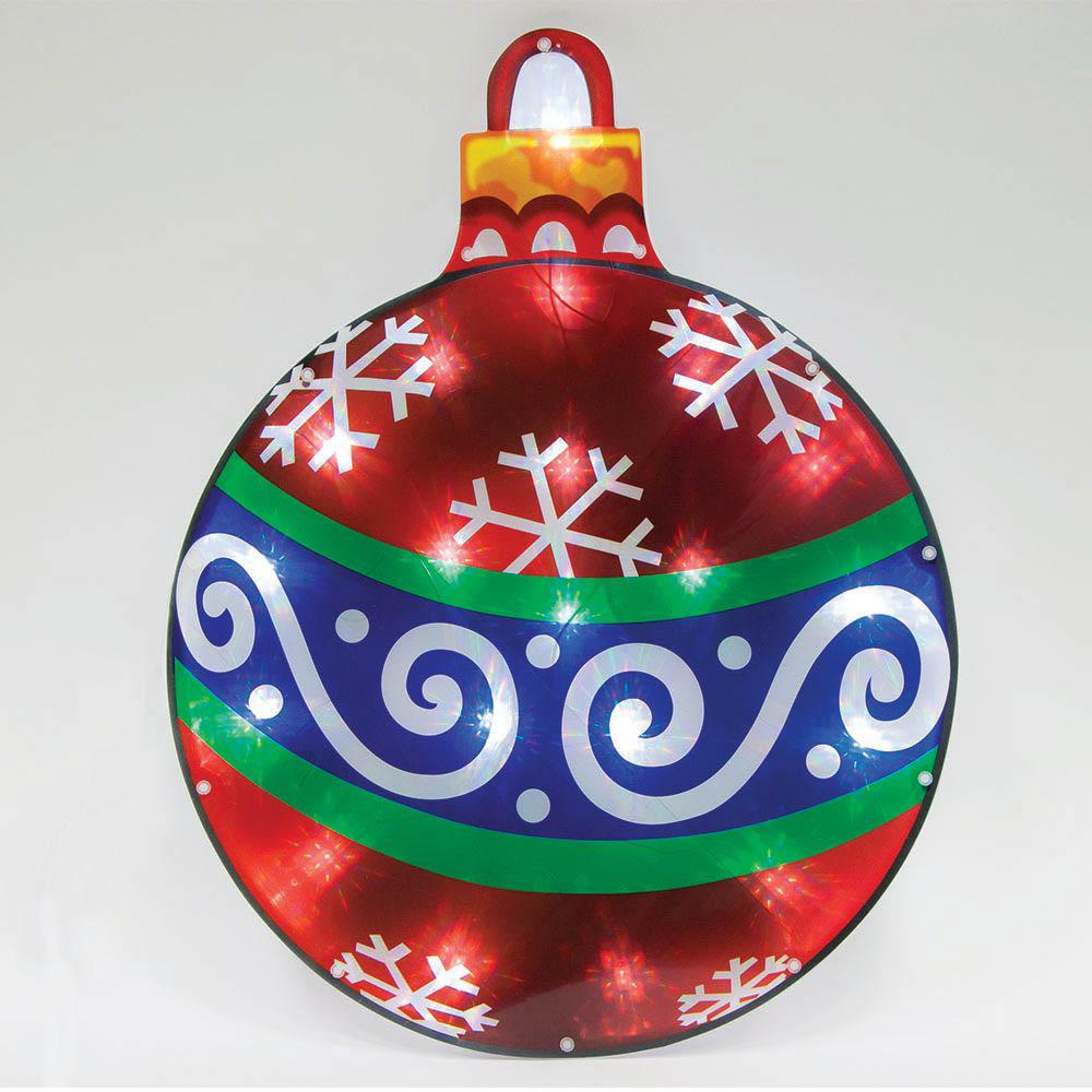 {}  Световая фигура Новогодний Шар (38х50 см) световая фигура снеговички 37х45 см