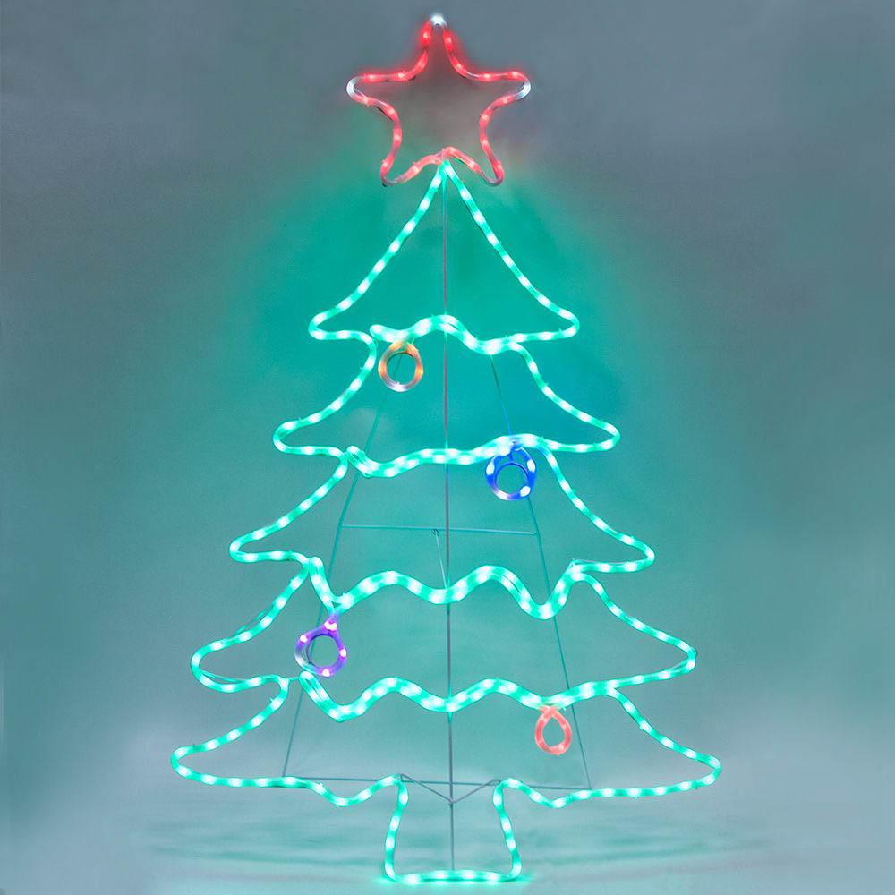 {}  Световая фигура Елечка (87х136 см) световая фигура снеговички 37х45 см