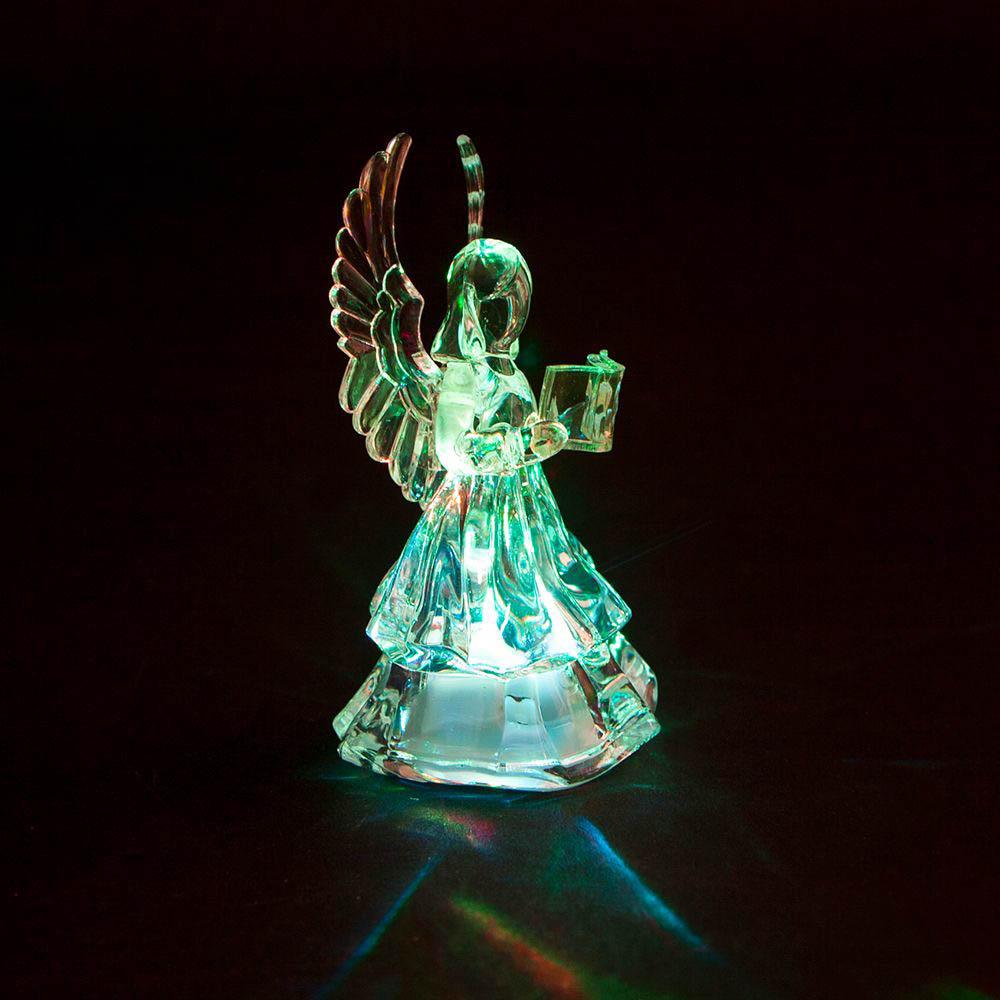 {}  Световая фигура Ангел С Книгой (6х10 см) световая фигура снеговички 37х45 см
