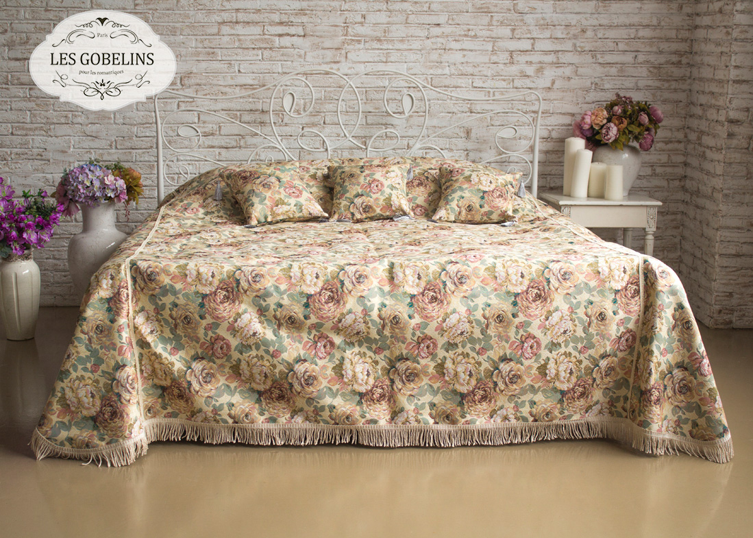 Покрывало Les Gobelins Покрывало на кровать Fleurs Hollandais (230х220 см)