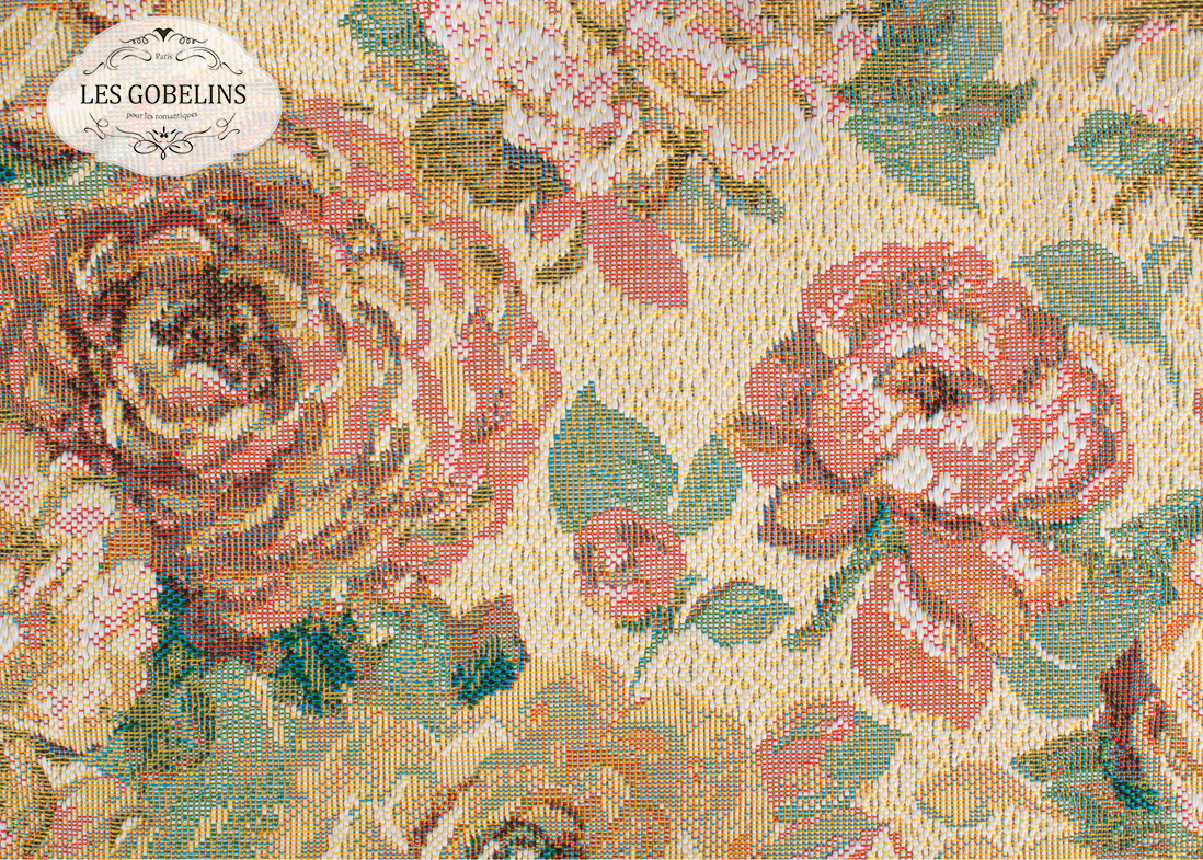 где купить Покрывало Les Gobelins Накидка на диван Fleurs Hollandais (130х190 см) по лучшей цене