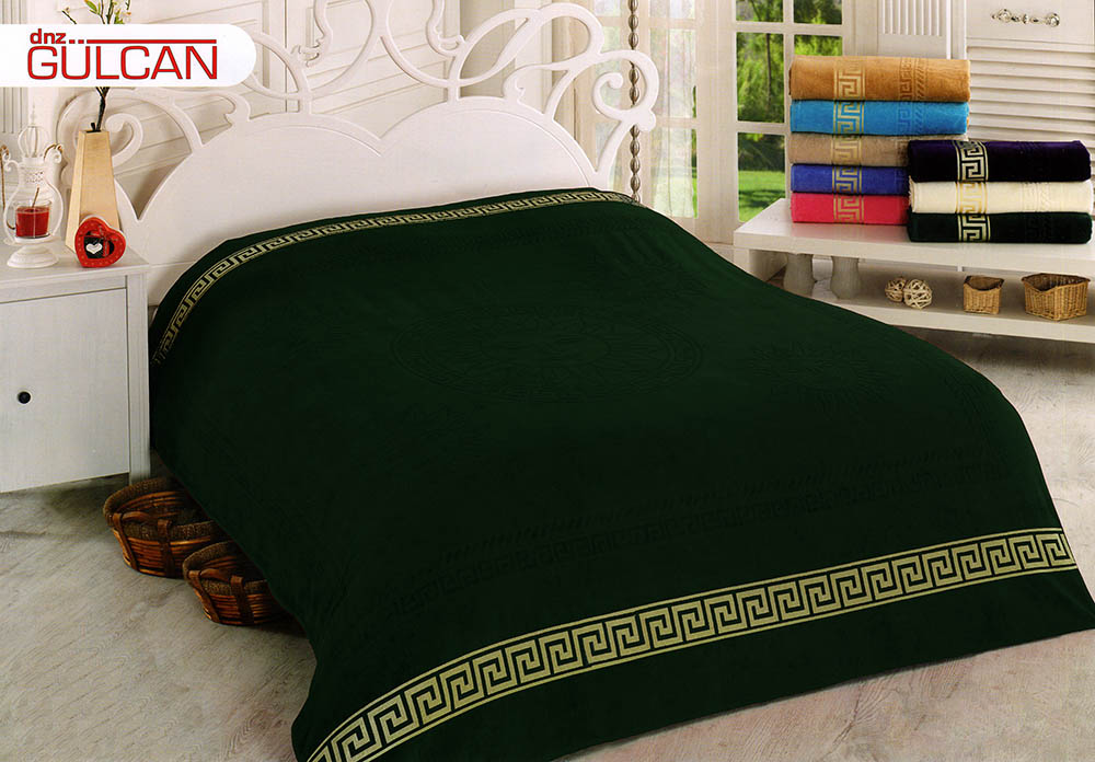 {} Gulcan Покрывало-простыня Greek Cotton (190х220 см) простыни candide простыня ivory cotton fitted sheet 130г м2 40x80 см