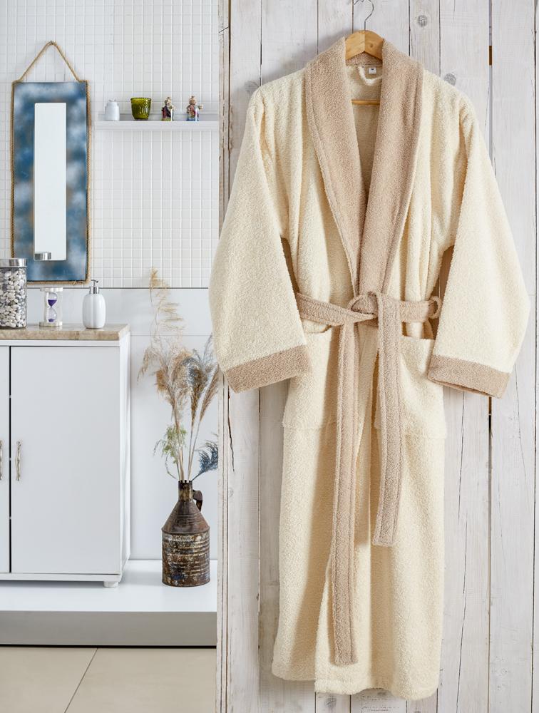Сауны, бани и оборудование Karna Халат Adra Цвет: Молочный (S-M) сауны бани и оборудование karna халат adra цвет светло лавандовый s m