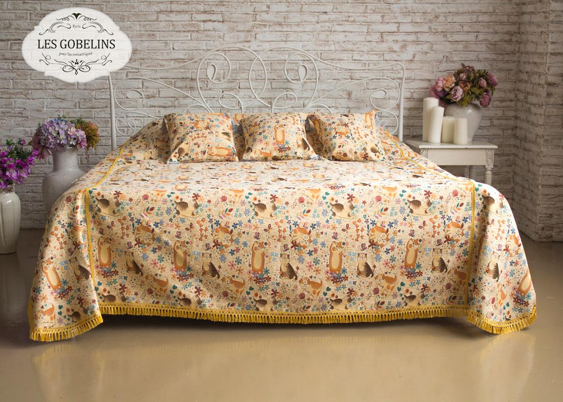 Детские покрывала, подушки, одеяла Les Gobelins Детское Покрывало на кровать Chatons Animes (190х220 см)