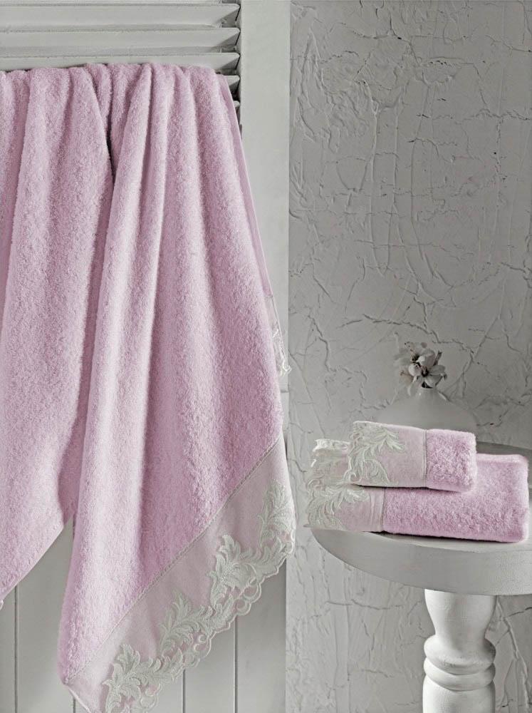 где купить Полотенца Altinbasak Полотенце Kleopatra Цвет: Розовый (50х90 см) по лучшей цене