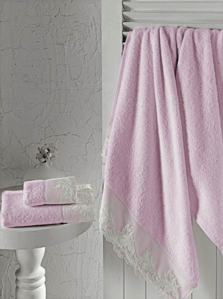 где купить Полотенца Altinbasak Полотенце Kleopatra Цвет: Розовый (Набор) по лучшей цене